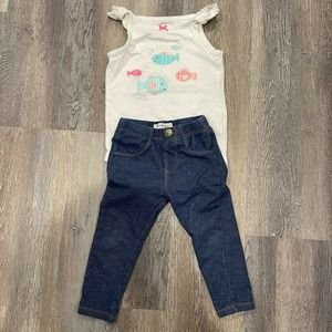 18 Month Toddler Girl 2 Piece Mixed brand
